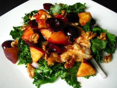 grilled stone fruit & tilapia salad...no need for salad dressing here ...