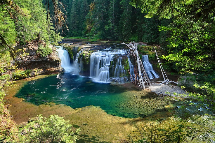 Lower Lewis River Falls in Skamania County, WA