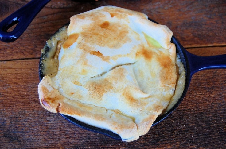 Chicken Pot Pie with Cream Cheese Pie Crust