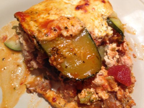 Noodleless lasagna with eggplant and zucchini. So good!
