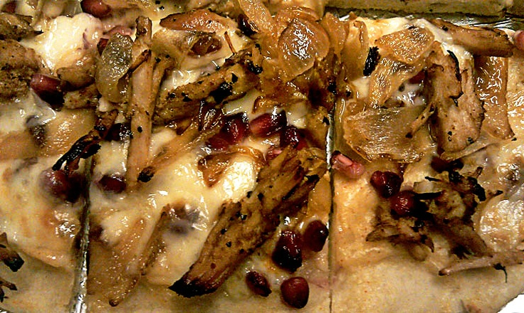 Roasted Pork Pizza with Caramelized Onions and Pomegranate Arils - To ...