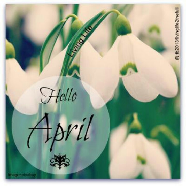#Hello April #Spring  Months  Pinterest