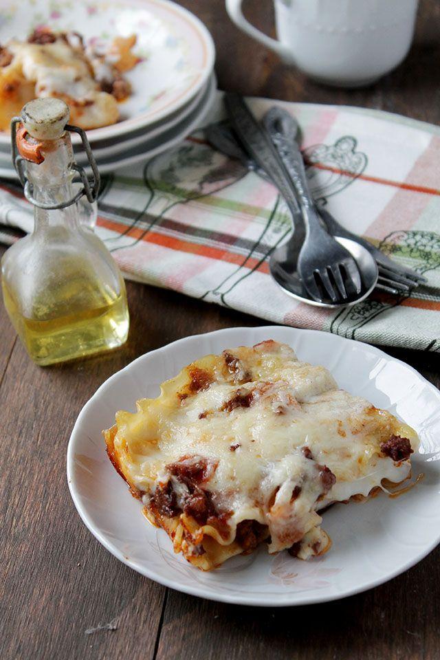 Lasagna Bolognese with Bechamel Sauce via diethood.com. Follow her on ...