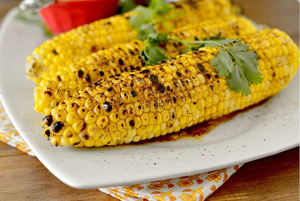 Grilled Sweet Corn with Chili Lime Honey Butter