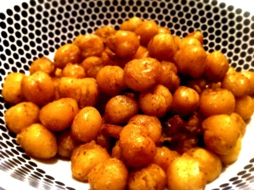 Crisp spiced #chickpeas #recipe #food #snack