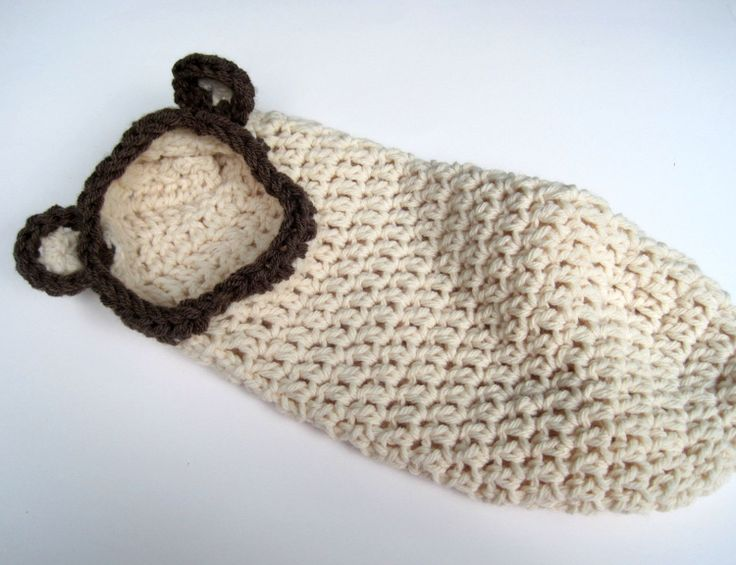 Crochet Cocoon Hooded Cocoon Baby Cacooon Baby Cocoon Bear ...
