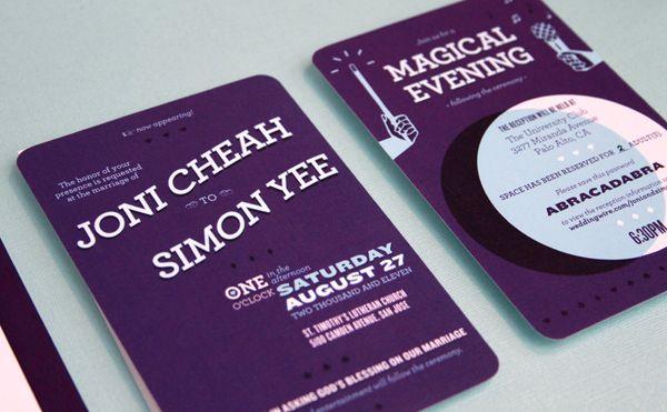 magic wedding invitation #invitation #wedding invitation