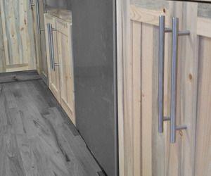 Beetle kill pine cabinets