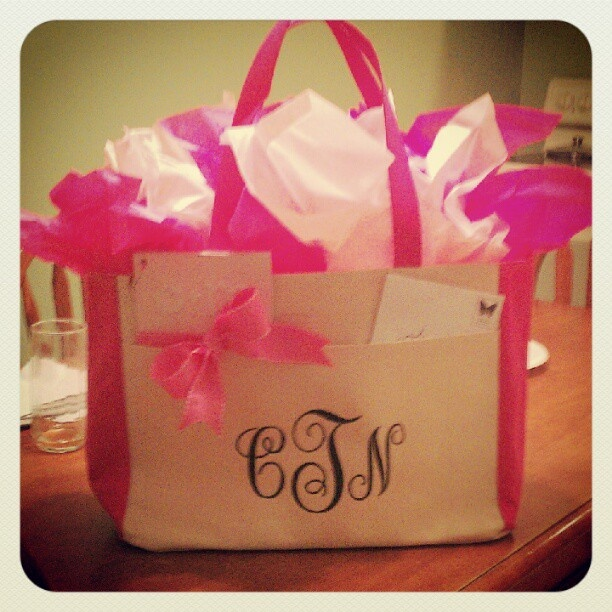 Gift bag I made for my best friends bridal shower! Love you Tina!
