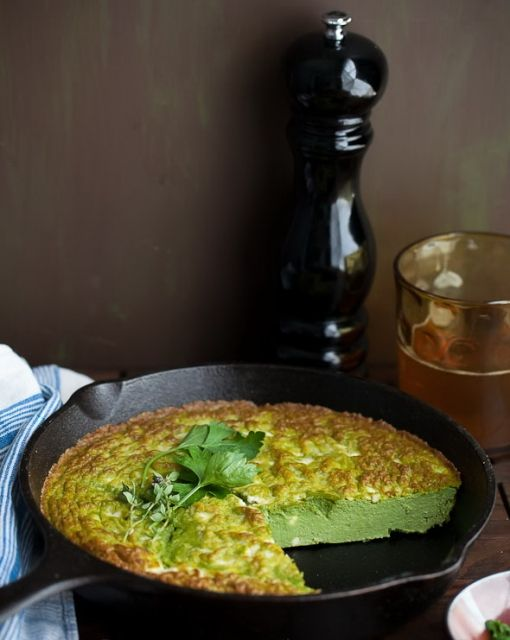 Herbed Ricotta Frittata with Feta Cheese | Breakfast | Pinterest
