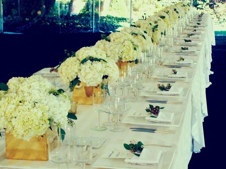 Long table centerpieces google search eep pinterest for Long table centerpieces