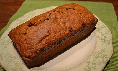 ... Low Fat Chocolate Chip Pumpkin Bread with greek yogurt and applesauce