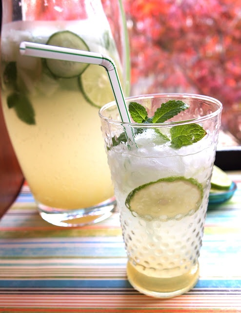Cucumber Mint Spritzer | Truly Scrumptious! | Pinterest