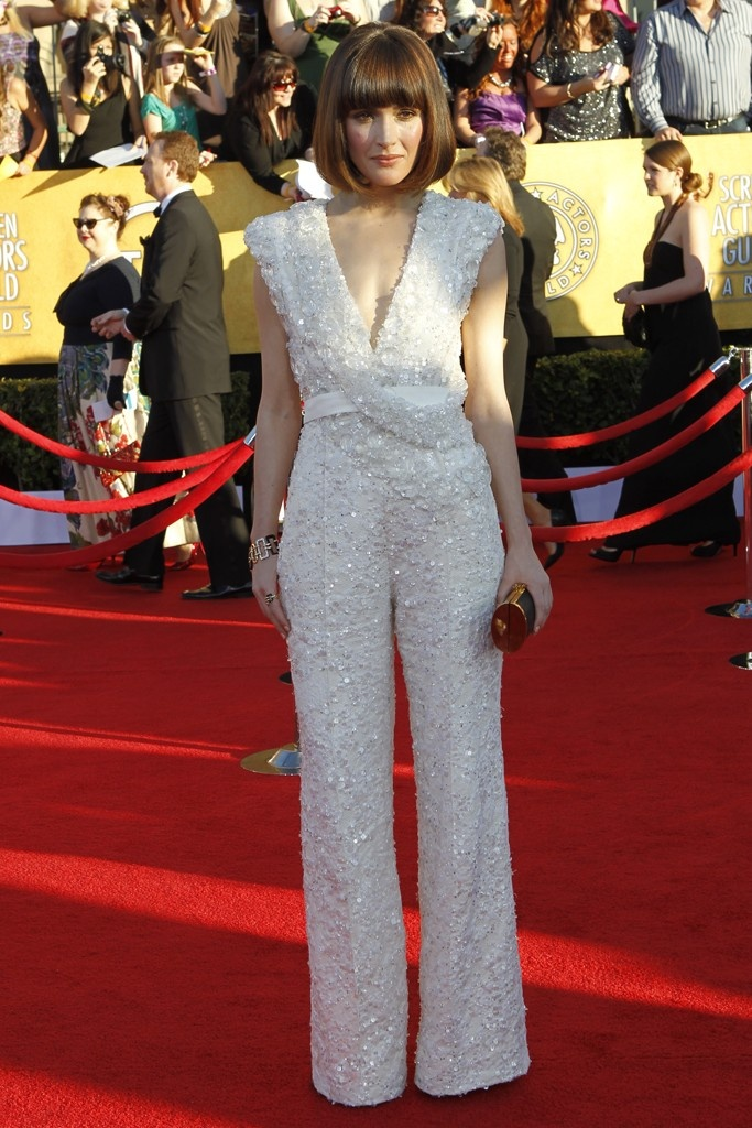 Rose Byrne in Elie Saab, SAG Red Carpet, jumpsuit