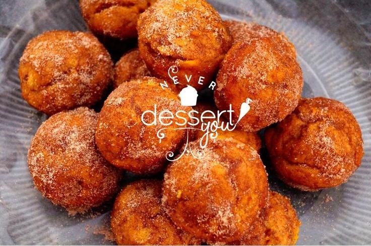 Pumpkin Doughnut Muffins | Never Dessert You | Pinterest