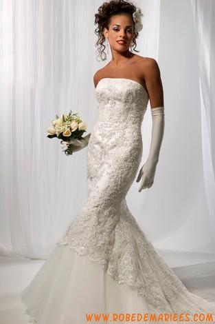 Robe de mariée sirène dentelle glamour  Robes de mariée ...