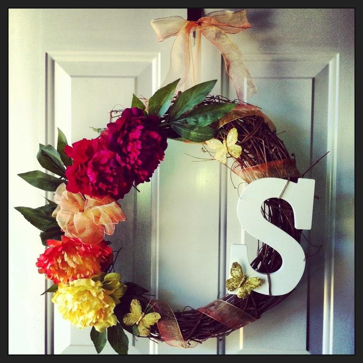 Easy diy summer wreath craft ideas pinterest for Diy summer wreath
