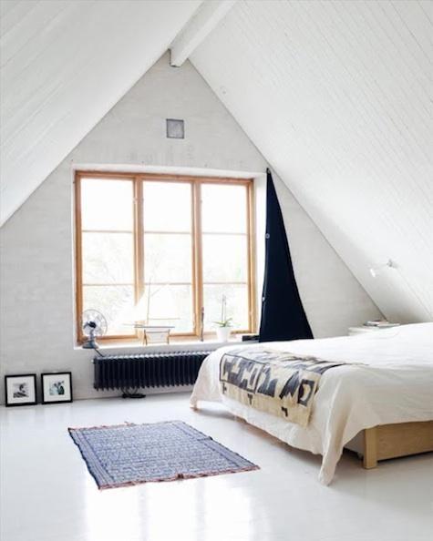 glossy white painted floors