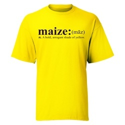 maize: a bold, arrogant shade of yellow #themichigandifference