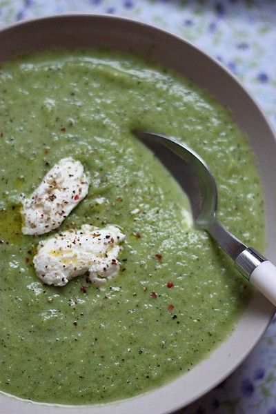 soupe glacée à la courgette | Miam / soupes d'été | Pinterest