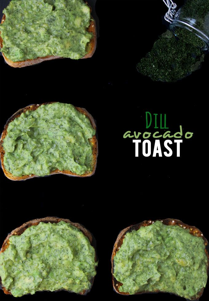 GF Dill Avocado Toast