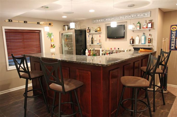 Wet Bar In Finished Basement Basement Ideas Pinterest