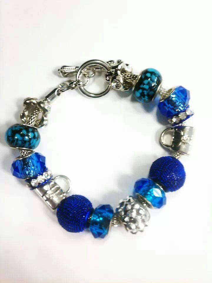 blue pandora like bracelet nici s pieces of