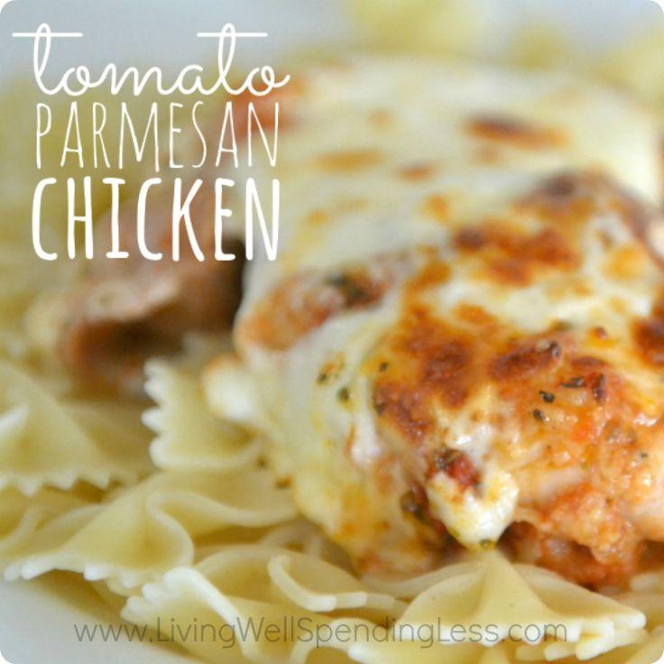 Easy Tomato Parmesan Chicken | Cheater Chicken Parmesan Recipe