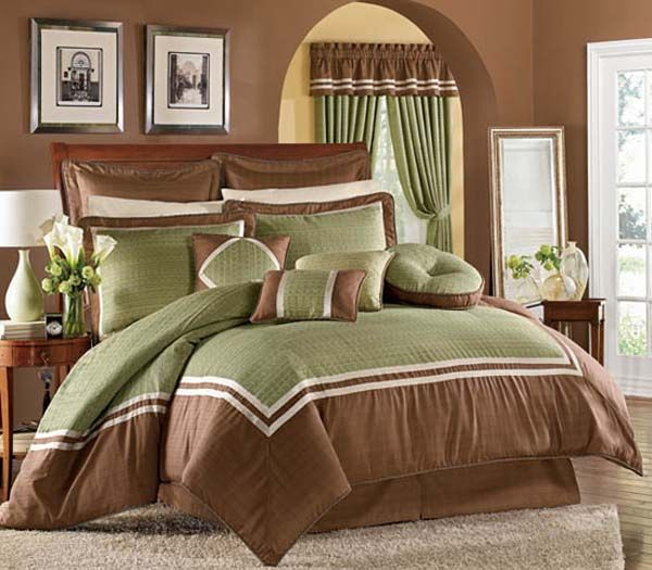 green and brown bedroom decorating ideas for the house pinterest