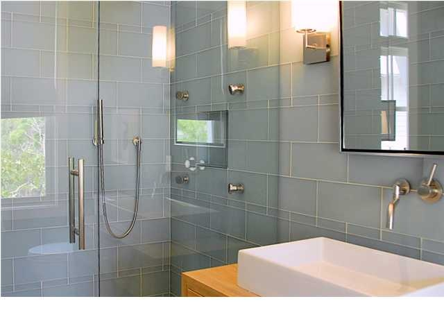glass tile everywhere - master bath