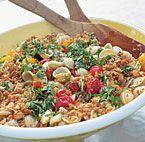 Creamy Rotini with Zucchini, Tomato, and Red Pepper | Recipe