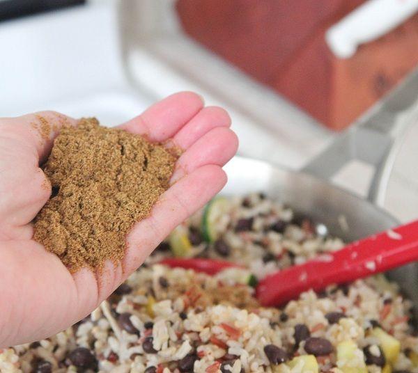 Chicken and Black Bean Smoky Rice Skillet - Picky Palate