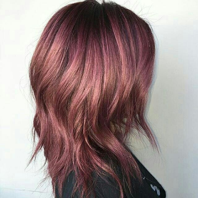 Black plum hair color photo