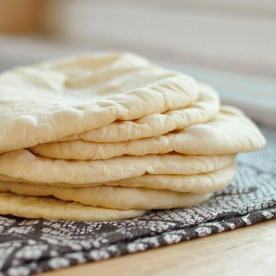 Pita Bread, easy, use sprouted wheat flour