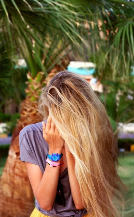 blonde on sandy brown hair. Pretty