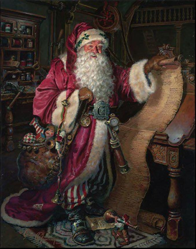long list | HOLIDAY: Christmas Santas | Pinterest