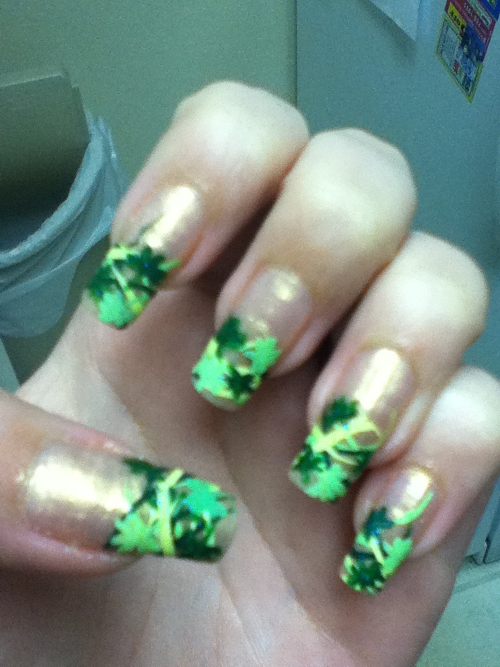 st. patricks day nail art  Nail art by kym nutt  Pinterest