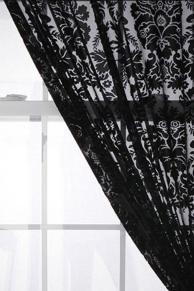 Damask Velvet Burnout Curtain   home decor & stuff   Pinterest