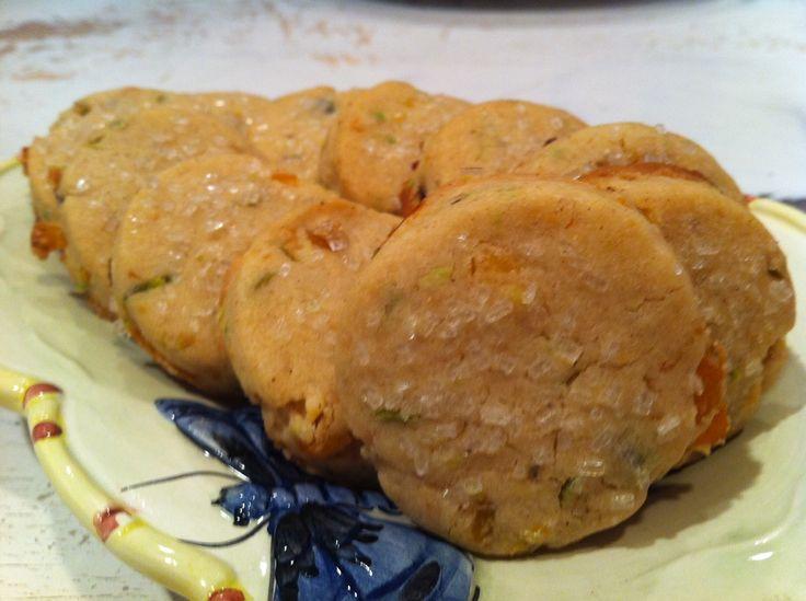 Apricot pistachio icebox cookies | Cookies | Pinterest