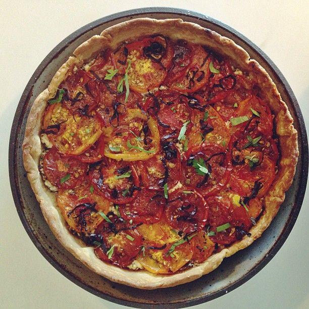 french tomato tart | Food & Beverage | Pinterest