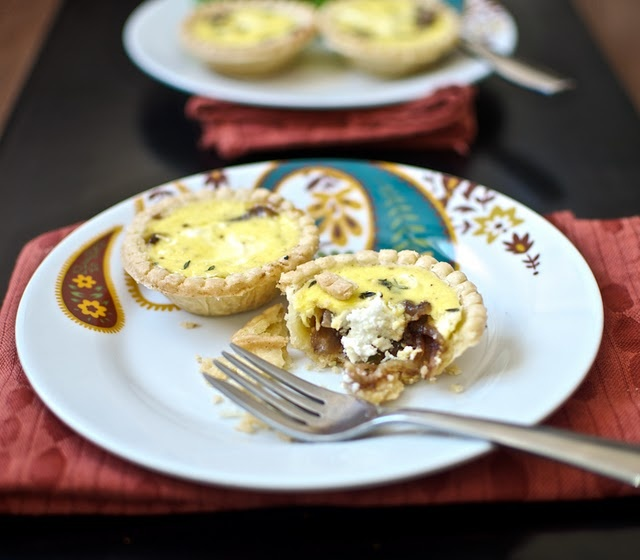 Caramelized onion & goat cheese tartlets | Let's Eat 2012 | Pinterest