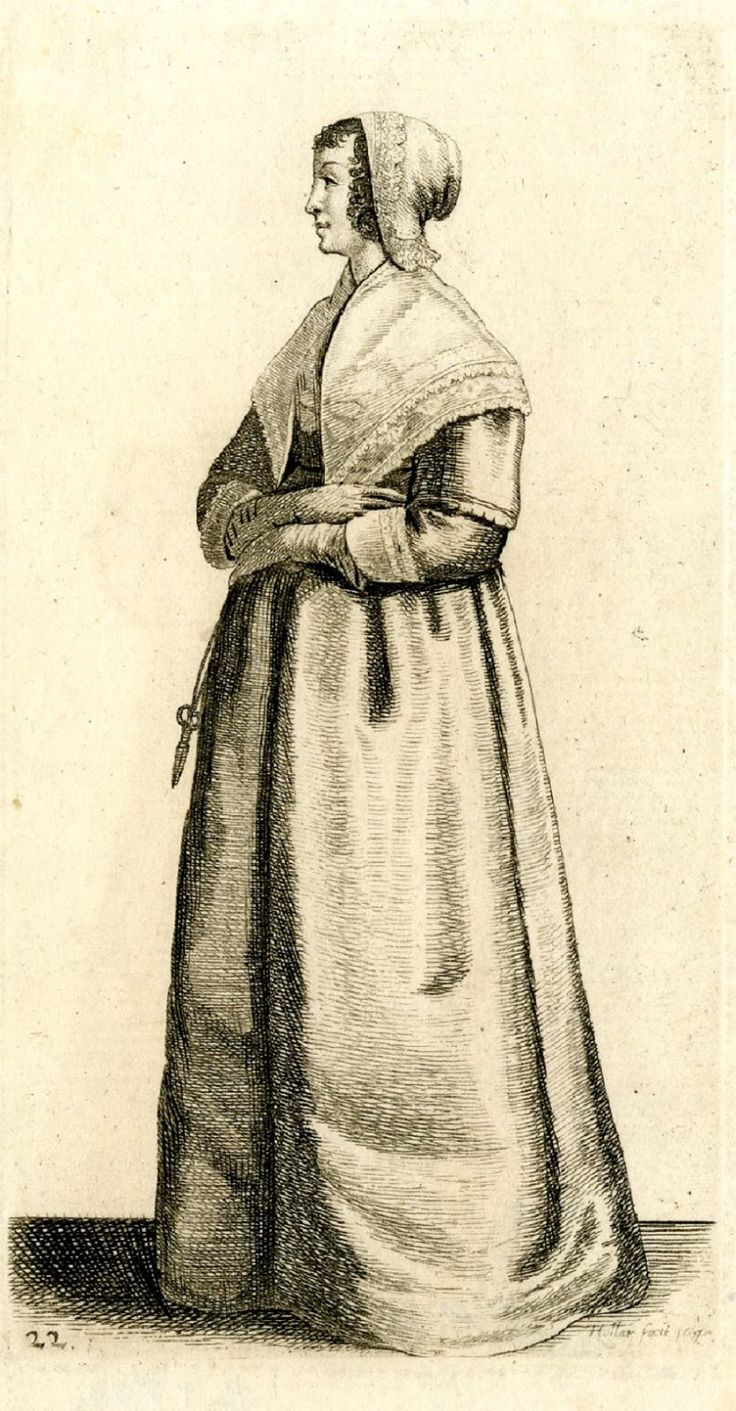 Working class costume of 17th century english fashion