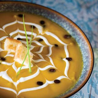 ... like this: black bean soup , black beans and butternut squash soup