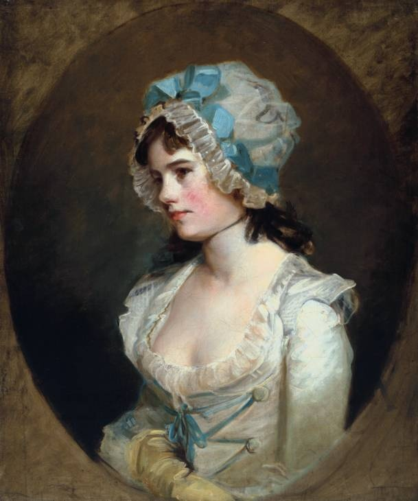 John Hoppner portrait of  Mrs Williams circa 1790.