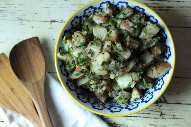 Patriotic Fare: A Summer Potato Salad Recipe with Homemade Whole Grain ...