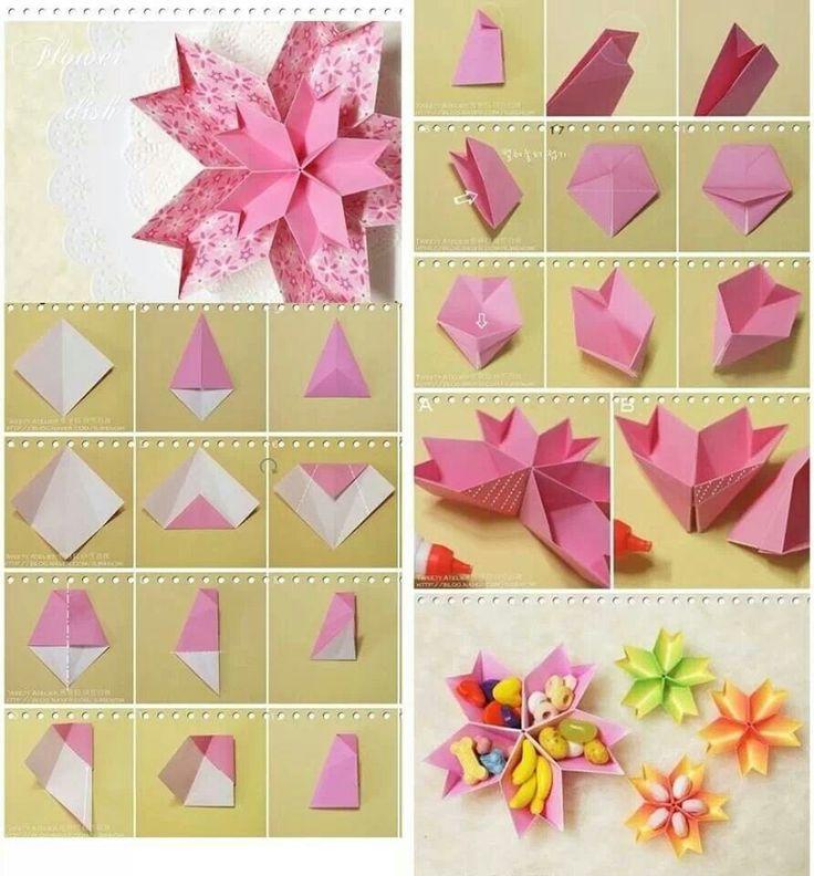 Handmade Things with Paper Step by Step Ideas : 小物入れ 折り方 : 折り方