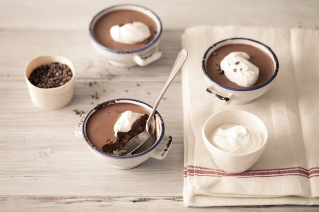 vanilla rice pudding amp chocolate panna cotta