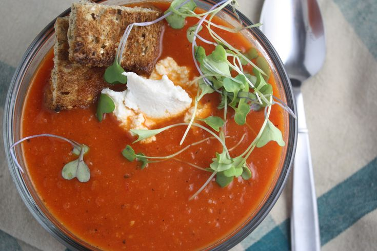 roasted red pepper and tomato soup | Dishing Up the Dirt 2 T olive oil ...