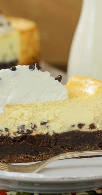 Brownie Chocolate Chip Cheesecake Recipe — Dishmaps