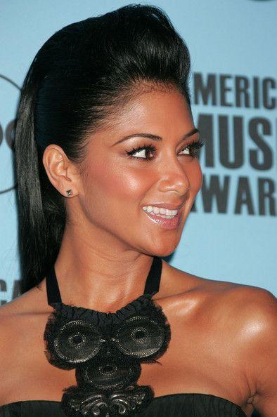 Nicole Scherzinger Half Up Half Down - Nicole Scherzinger Updos - StyleBistro